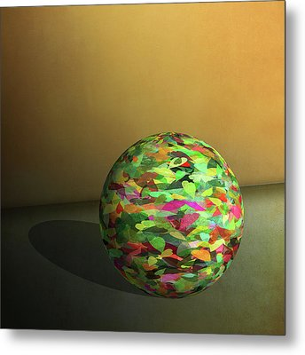 Leaf Ball -  Metal Print
