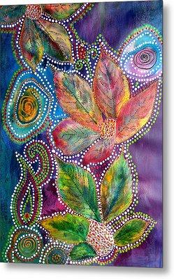 Leaf Fiesta Metal Print