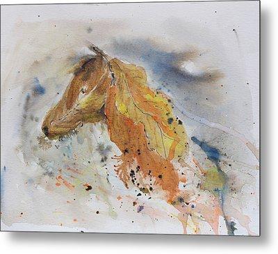 Leafy Horse Metal Print