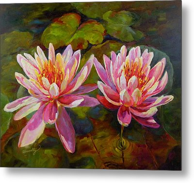 Metal Print featuring the painting Lean On Me by Chris Brandley