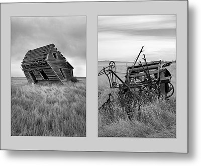 Leaning Diptych Metal Print