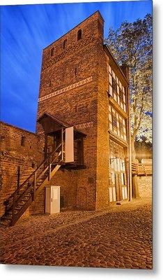 Leaning Tower By Night In Torun Metal Print by Artur Bogacki