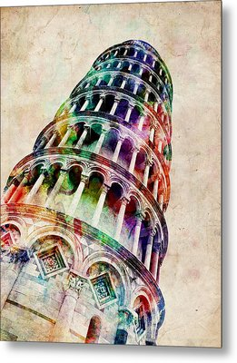 Leaning Tower Of Pisa Metal Print by Michael Tompsett