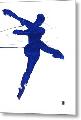 Leap Brush Blue 1 Metal Print