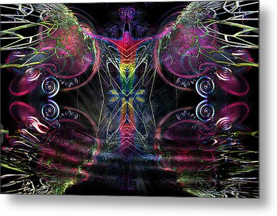 Metal Print featuring the digital art Leap Of Faith by Rhonda Strickland