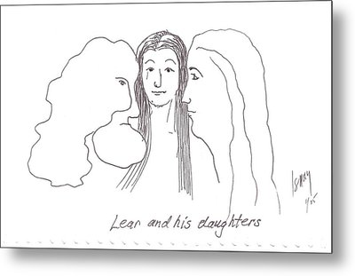Lear And His Daughters Metal Print