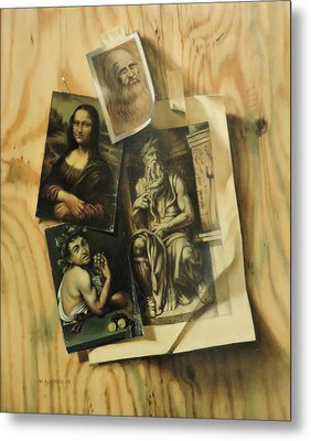 Metal Print featuring the painting Learning From The Old Masters by William Albanese Sr