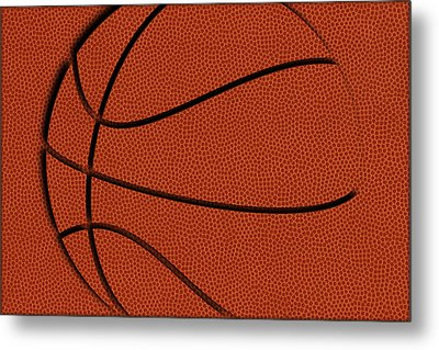 Leather Basketball Art Metal Print by Joe Hamilton