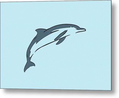 leather Dolphin Metal Print