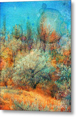 Leave It To The Trees To Dance In The Cold Metal Print by Tara Turner
