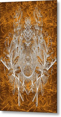 Leaves And Twine Metal Print by Evelyn Patrick