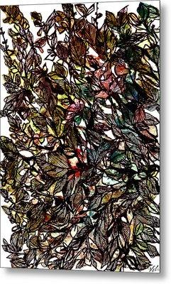 Leaves Hidden Everywhere Metal Print by Garima Srivastava