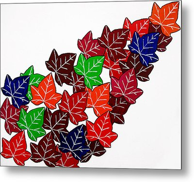 Leaves Metal Print by Oliver Johnston