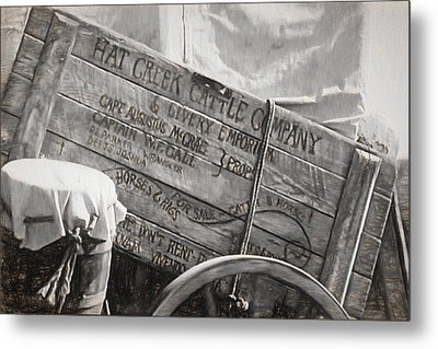 Leaving Lonesome Dove Metal Print by Donna Kennedy