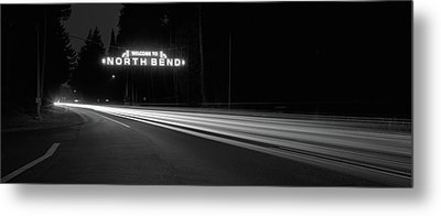 Leaving North Bend Metal Print by HW Kateley