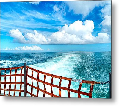 Leaving Okracoke Metal Print