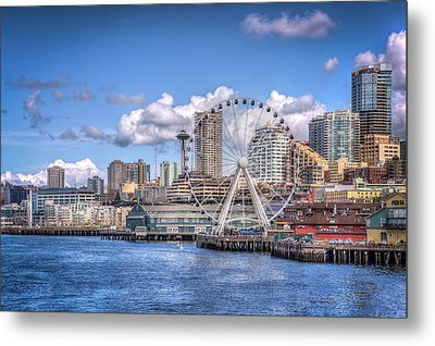 Leaving Seattle Metal Print by Spencer McDonald