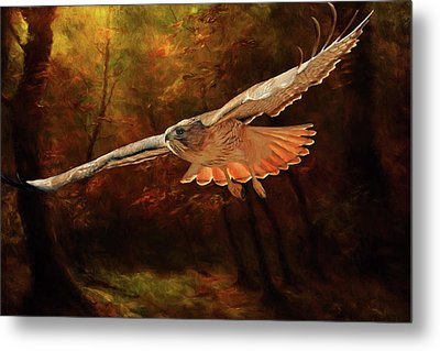 Leaving The Enchanting Forest Metal Print