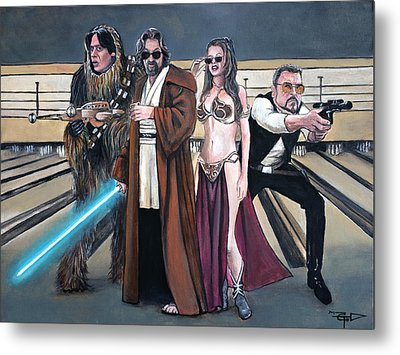 Lebowski Wars Metal Print by Tom Carlton