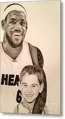 Metal Print featuring the painting Lebron And Carter by Tamir Barkan