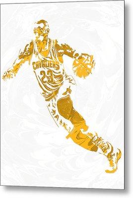 Lebron James Cleveland Cavaliers Pixel Art 15 Metal Print