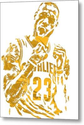 Lebron James Cleveland Cavaliers Pixel Art 9 Metal Print