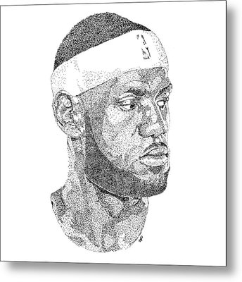 Lebron James Metal Print by Marcus Price