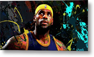 Lebron Metal Print by Richard Day
