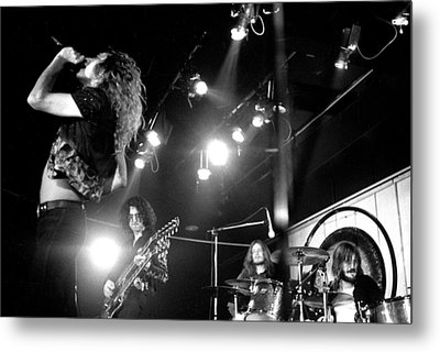Led Zeppelin 1972 Metal Print by Chris Walter