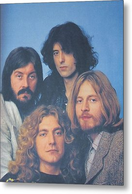 Led Zeppelin Metal Print by Donna Wilson