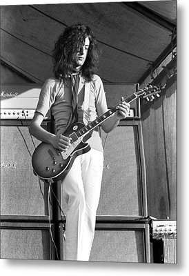 Led Zeppelin Jimmy Page '69 Metal Print by Chris Walter