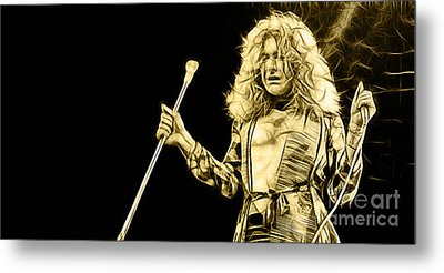 Led Zeppelin Robert Plant Metal Print
