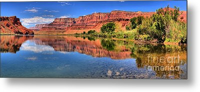 Lees Ferry Panorama Metal Print by Adam Jewell