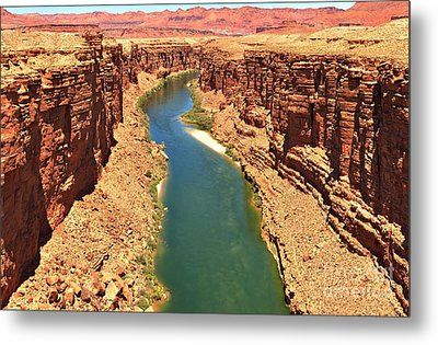 Lees Ferry River Canyon Metal Print by Adam Jewell