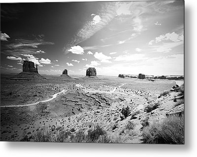 Left And Right Mittens And Merrick Butte Metal Print by Ryan Kelly