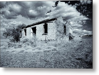 Left In Ruin Metal Print by Mike  Dawson