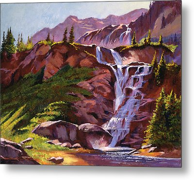 Legend Falls Metal Print