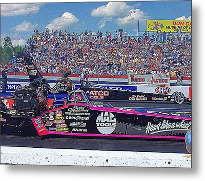 Legends At The Line Metal Print by Jerry Battle