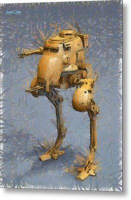 Legged Battlebot - Da Metal Print
