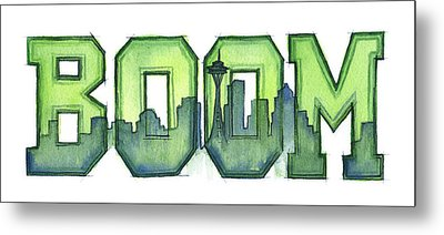 Legion Of Boom Metal Print by Olga Shvartsur