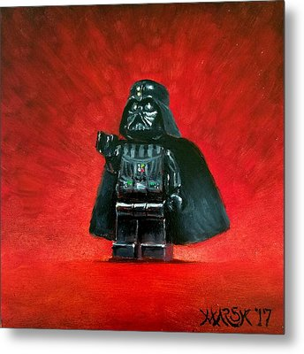 Lego Vader Metal Print