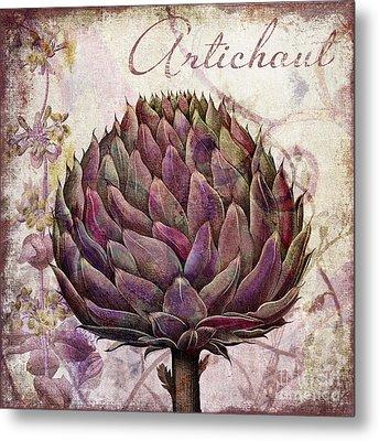 Legumes Francais Artichoke Metal Print