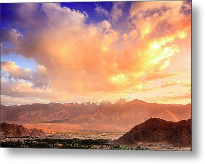 Metal Print featuring the photograph Leh, Ladakh by Alexey Stiop