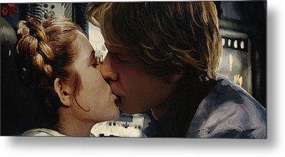 Leia And Han Metal Print by Mitch Boyce