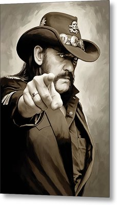 Metal Print featuring the painting Lemmy Kilmister Motorhead Artwork 1 by Sheraz A