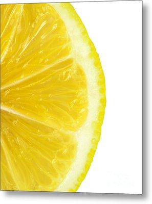 Lemon Close Up Metal Print by Deyan Georgiev