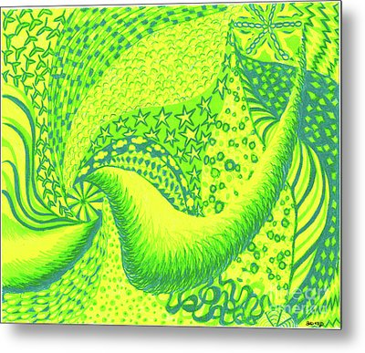 Metal Print featuring the drawing Lemon Lime by Kim Sy Ok