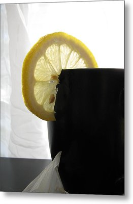 Metal Print featuring the photograph Lemon Slice by Lindie Racz