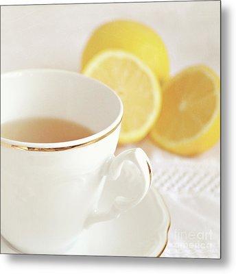 Lemon Tea Metal Print