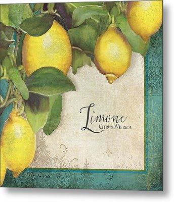 Lemon Tree - Limone Citrus Medica Metal Print by Audrey Jeanne Roberts